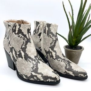 Naturalizer Soul Mikey Snake Embossed Mid Boots